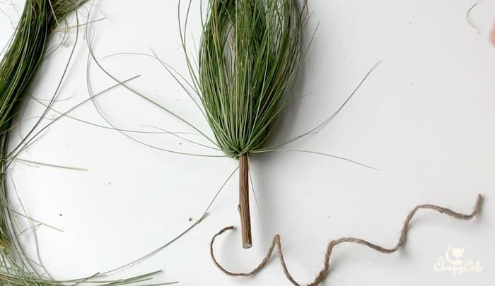 mini witches broom cat toy